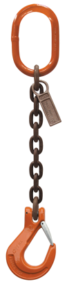 Clevlok Hook with Latch Single-Leg, Grade 100, Mechanical Chain Sling
