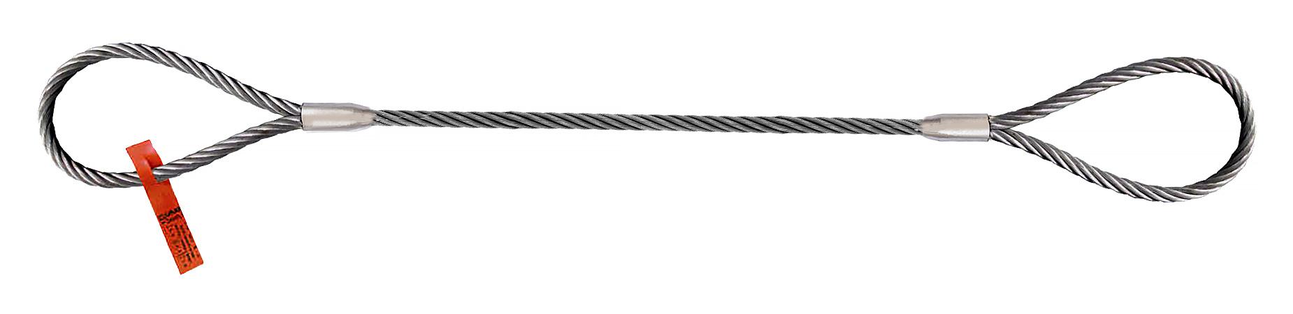 12 ft Steel Eye and Eye 3//4 Diameter Wire Rope Sling
